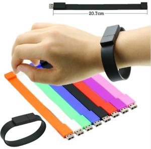 USB Stick Armband in 7 Top Farben, Wristband  weiches Silikon USB Flash Drive