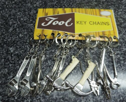 Pliers Metal Unused 12 Total Mini Tool Key Chains Lot Hammer Crescent Wrench