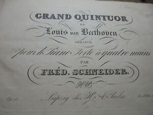 29126 Beethoven Ludwig Pianoforte Op. 16 Sonate Ouevre 24 Grand septour Oeuv. 20