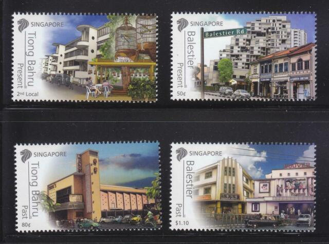 SINGAPORE 2012 AREAS OF HISTORICAL SIGNFICANCE BALESTIER & TIONG BAHRU 4 STAMPS