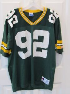 quality design 3ef64 35d53 Details about Vintage REGGIE WHITE GREEN BAY PACKERS jersey NFL Champion  men's size 40