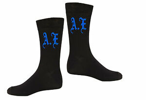 Mens-Personalised-Vinyl-Printed-Initials-Novelty-Everyday-One-Size-Gift-Socks