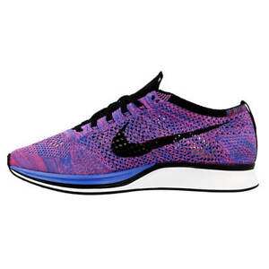 finest selection 88e00 7df8a Image is loading NEW-Nike-Flyknit-Racer-Game-Royal-Black-Pink-