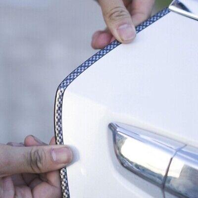 5M//Car Door Edge Guards Strip U Shape Trim Molding Carbon Fiber Seal Protector
