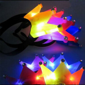12-PACK-Light-Up-Princess-Crown-Headbands-LED-Blinking-Flashing-Frozen-Supplies