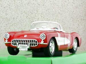 CHEVROLET Corvette - 1957 - red / white - WELLY 1:24