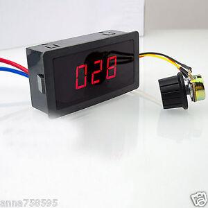 DC Motor Speed Control PWM Controller 6V-30V 5A 13KHz Digital Display