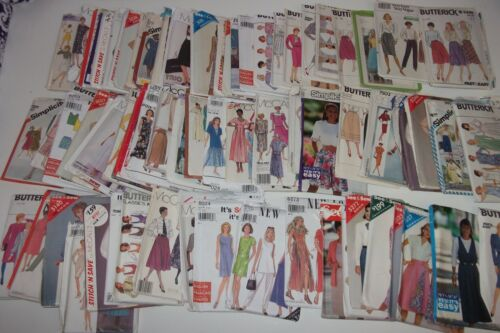 83 VINTAGE Sewing Pattern LOT Women's Dresses Butterick Simplicity McCall