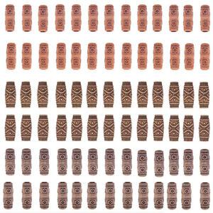10pcs Wooden Hair Braid Dreadlock Beads Tube Ring Hair Extension Cli N_N
