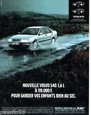 PUBLICITE ADVERTISING 026  1997  Volvo la S40 1.6L