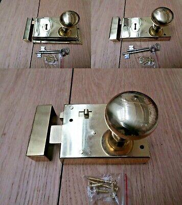 Rim Lock Door Knob Handle Sets Bathroom Bedroom Snib latch Old retro victorian