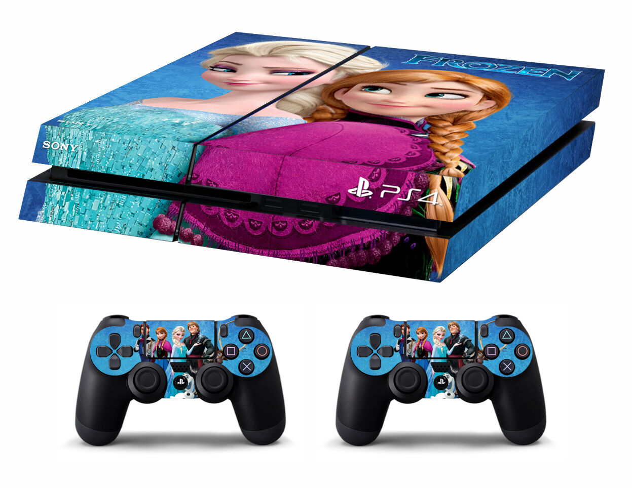 PS4 vinyl Skin Stickers frozen style for Console & 2 controllers