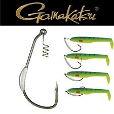 GAMAKATSU EWG Weighted Spring Lock Blei Angel Haken Gr 4//0 3.5g 4St.