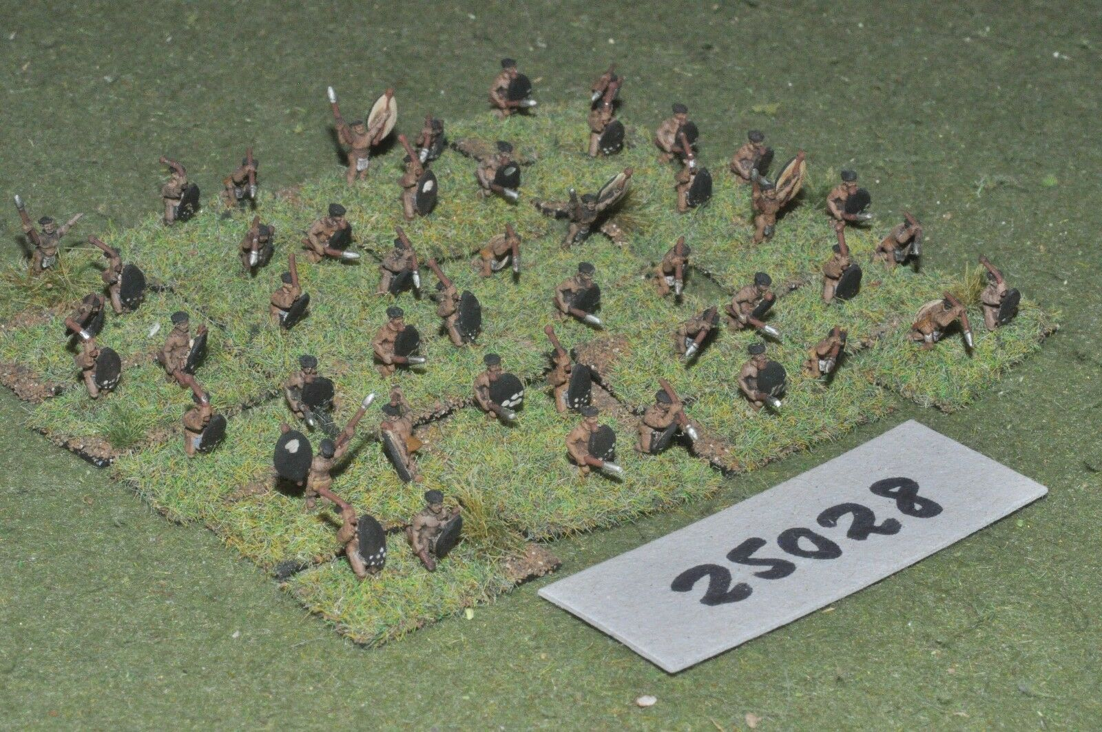 10mm colonial   zulu - warriors 48 figures - inf (25028)