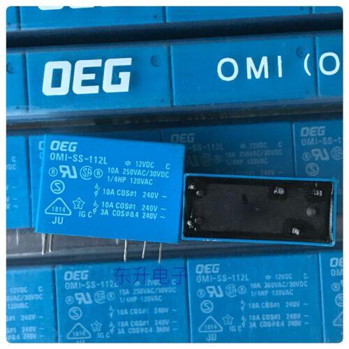 OMI-SS-112L Power Relay 10A 12VDC 5 Pins x 10PCS