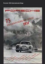 Porsche 1952 Internationale Siege 356 Race Licensed Reprint Car Poster:>)