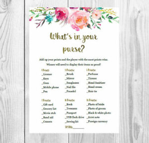 photograph about What's in Your Purse Free Printable referred to as Information and facts more than Printable Whats within your purse- Bridal Shower / Kitchen area tea sport / Hens bash