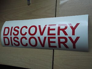 DISCOVERY WING PANEL STICKERS X2