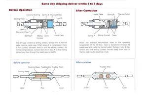 set SF188E SEFUSE Coupures NEC Thermique Fusible 192 ° C 10A 250 V 5 Pcs