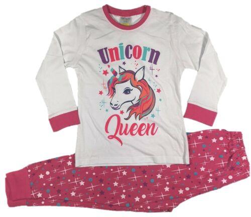 JIM Jams 4 U Principessa Unicorn Pigiama Pigiama Pjs Ragazze 7 8 9 10 11 12 anni