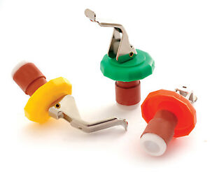 Norpro-289D-Set-of-5-Bottle-Stoppers-with-Opener-Asst-Colors