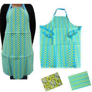 Apron-Kitchen-Bib-Vinyl-Waterproof-Chef-Butcher-Cooking-Catering-Printed-Adult
