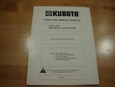 Kubota One Row Cultivator L411 L412 Owners Manual Parts Catalog