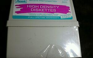 Vintage-Radio-Shack-High-Density-Diskettes-SEALED-Box-10-5-1-4-Diskettes-26-451