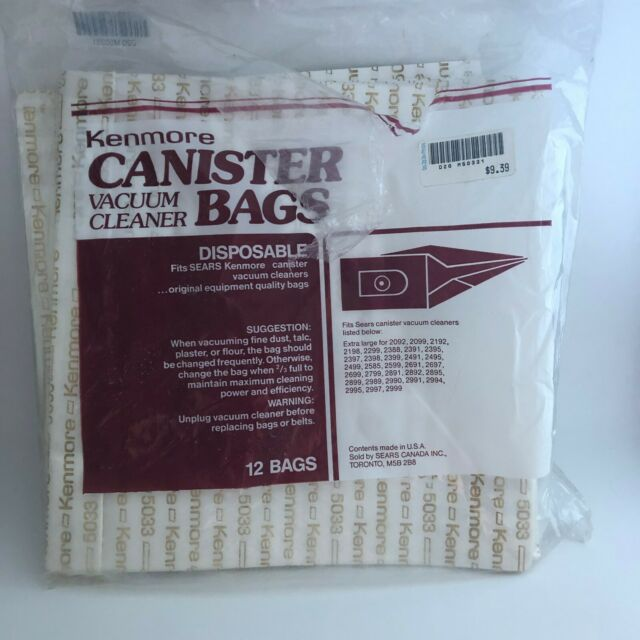 Kenmore Canister Vacuum Cleaner Bags fits Sears Kenmore Vacuum Cleaners