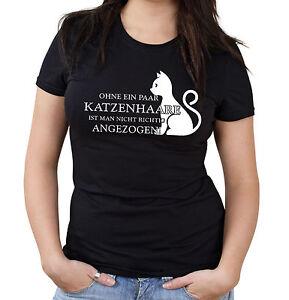 Ohne-ein-paar-Katzenhaare-Girlie-Shirt-Kult-Katze-Damen-Frauen-Haus
