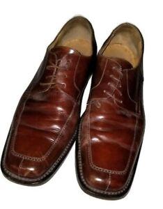 79c09e47292ed Details about Mercanti Fiorentini Men's Brown Leather Square Toe Oxford  Dress Shoe Size 10.5