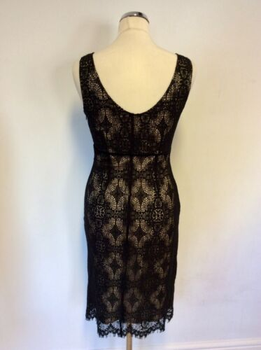 Black Lined Dress Lace amp; Pencil Size Lk 8 Mink Bennett 7gw515