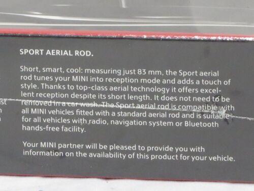 OEM Mini Cooper Sport Aerial Rod Antenna 83 mm 3.27 inches Black 65202296772