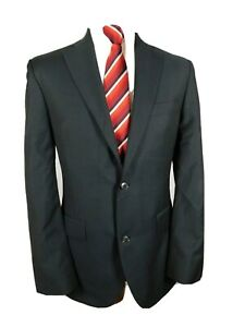 Austin Reed Mens Suit Jacket Ch40 R Navy Pure Wool Ebay