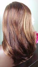 Beautiful Light Auburn/Blonde Mix/Brn Lace Front Wig Soft Long Layers