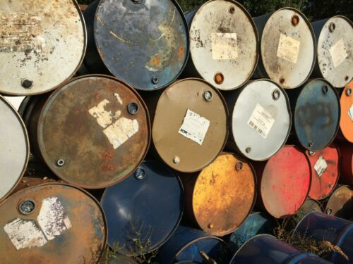 Empty 45 gallon oil drum barrel BBQ incinerator horse jump 205 199