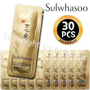 Sulwhasoo-Concentrated-Ginseng-Renewing-Cream-EX-Light-1ml-x-30pcs-30ml-Sample
