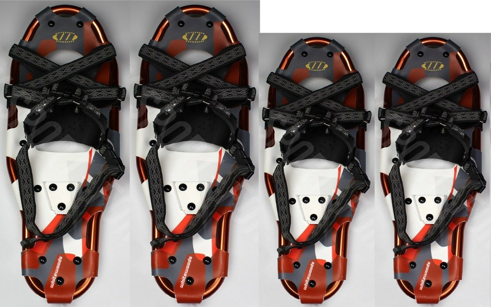 2  Pairs- NEW WHITEWOODS XLT 27 8.5x27  & XLT 22 8.5x22  SNOWSHOES - Free Mask   stadium giveaways