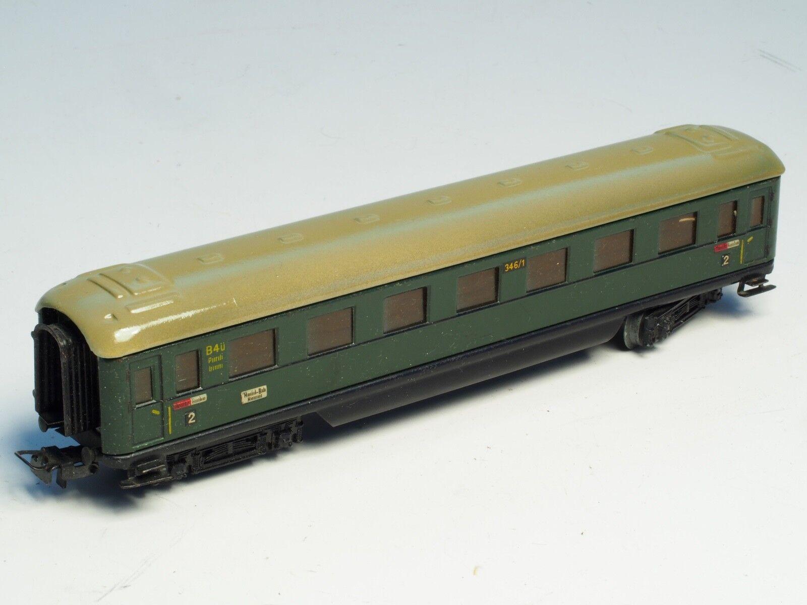 346/1  MARKLIN HO-gauge Metal German b4ü passenger car from 1950's