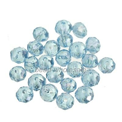 80pcs Rondelle Crystal Loose Spacer Beads 4x6mm For Diy