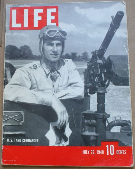 July 22 1940 Life Magazine U.S. Tank Commander Carl Hubbell Great Ads