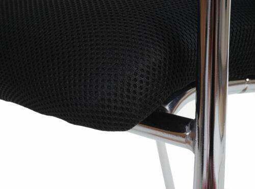 stapelbar Textil 2x Besucherstuhl Tucson Sitz- und Rückenfläche schwarz