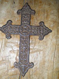 Cast-Iron-VICTORIAN-STYLE-Wall-Cross-Rustic-Ranch-Decorative-Finish-Home-Decor