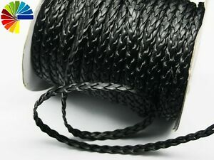 2m-Lederband-geflochten-0-85-m-Kunstleder-Zopf-gold