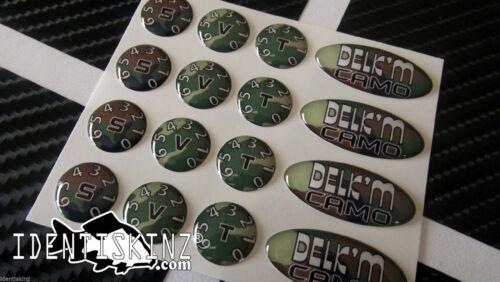 Delkim Stickers Ovale /& Cadran Kits EV STD Txi Plus Multi variation annonce