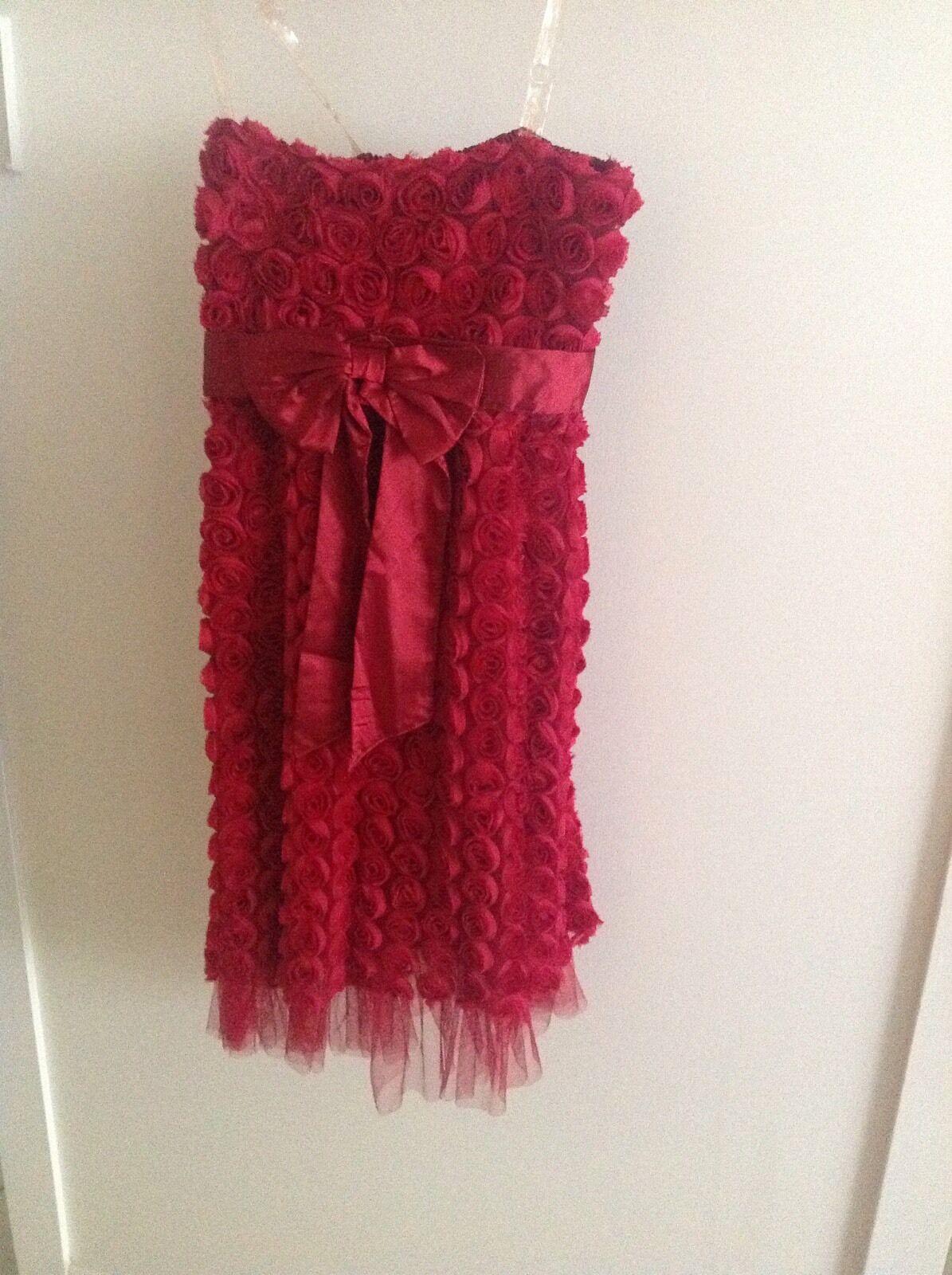 Sz8 Ladies Strapless Rosas Evening Dress (Item No. 6.8)