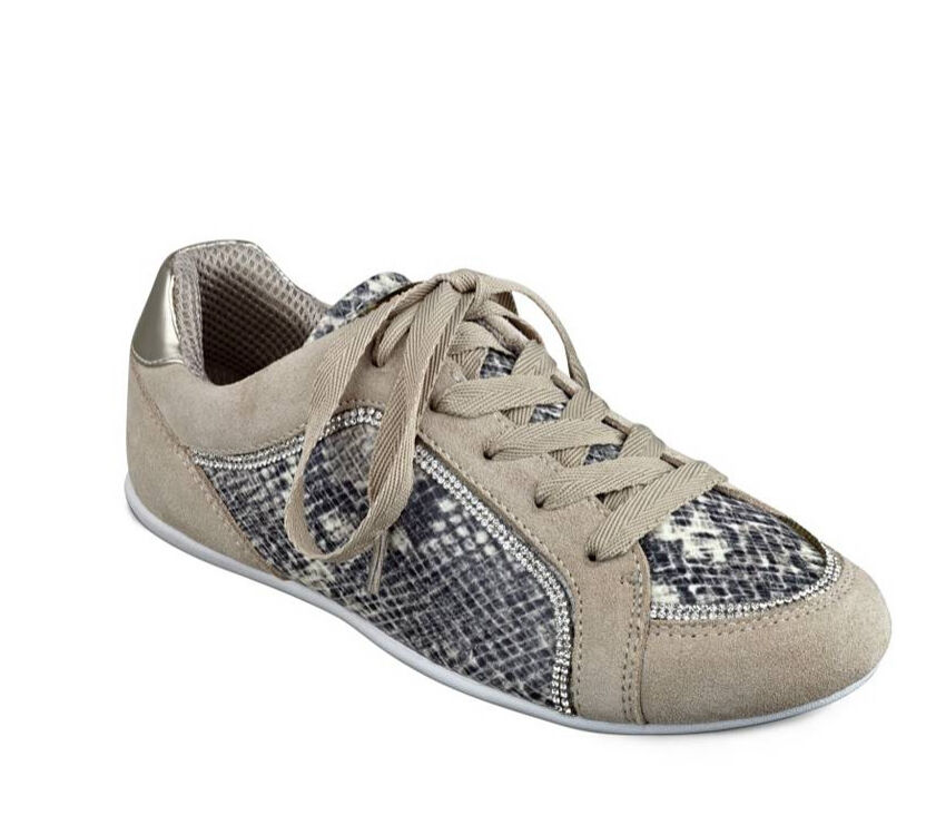 GUESS Clancy Jogger Sneakers Python print Brown US 7.5, 9