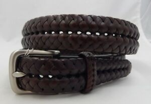 Brighton-Braided-Leather-Belt-Size-38-NWT-64044