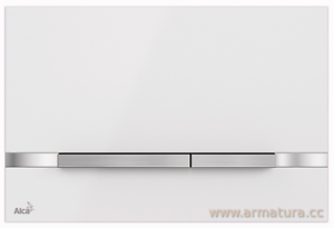 AlcaPLAST-Push-Plate-WC-FLAT-STRIPE-WHITE-Betatigungsplatte-Druckerplatte-METAL