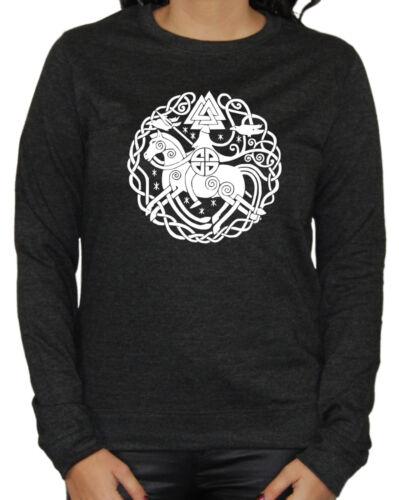 Odin Damen Sweater Thor Germanen Runen Wikinger Wacken Heavy Metal Vikings